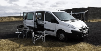 Peugeot Expert Camper / Diesel / Manual / WIFI / Camping Table and 2 Chairs, Cooler Box, Dishes and Cutlery, Duvets and Pillows, Gas Stove, Global Positioning System (GPS), Pot, Pan and Cookware, Power Inverter, Radio, AUX, USB, Unlimited Mileage,